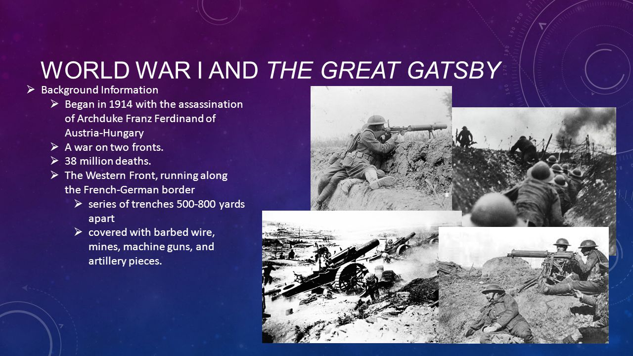 World War I and The Great Gatsby