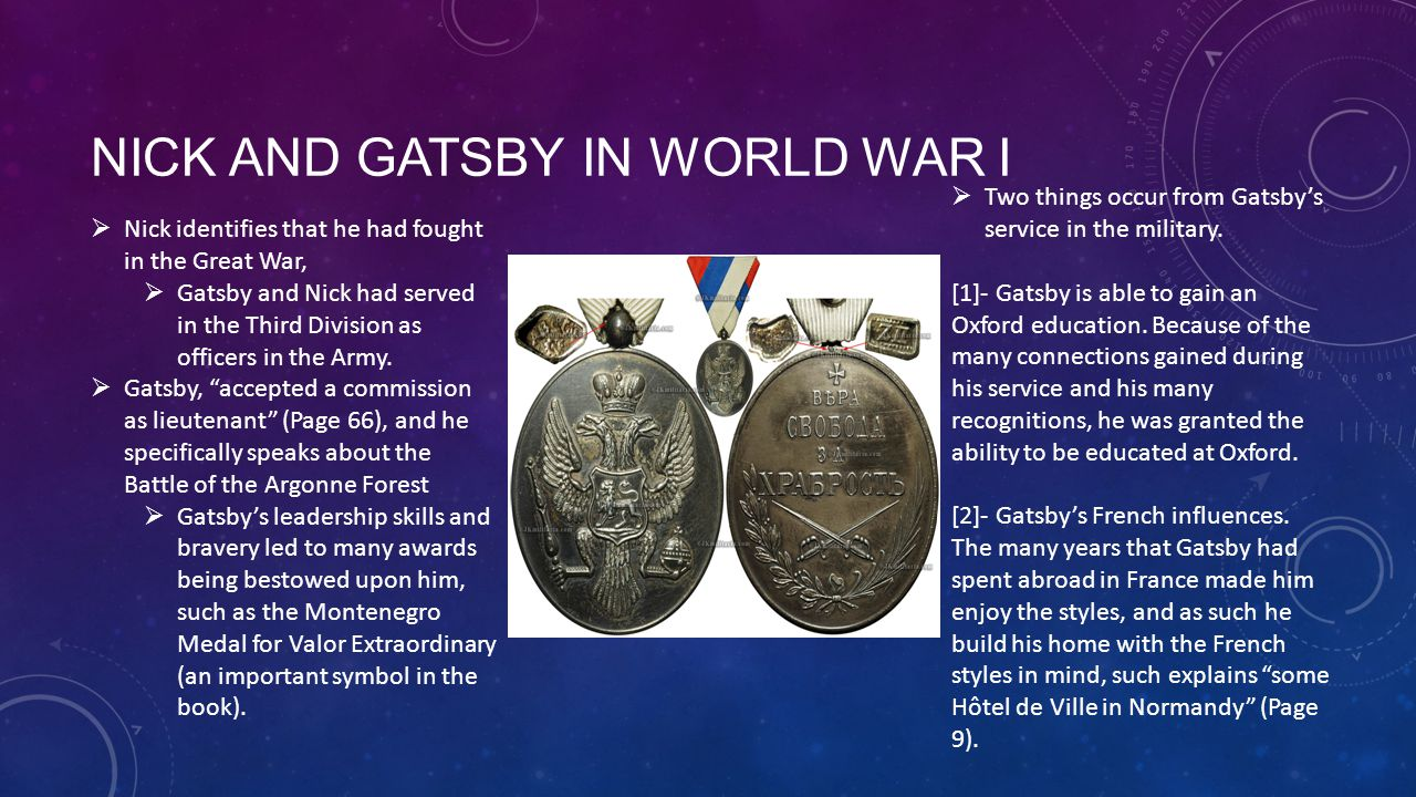 Nick and Gatsby in World War I