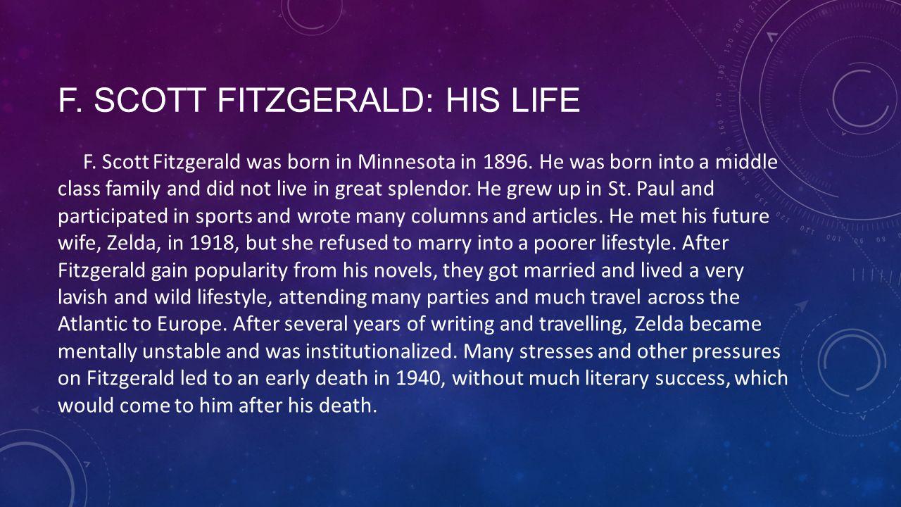 F. Scott Fitzgerald: His Life