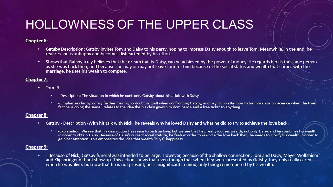 Hollowness of the Upper Class