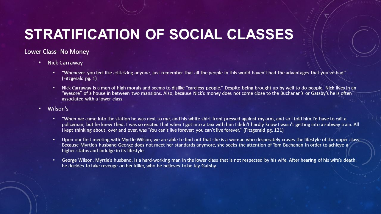 Stratification of Social Classes