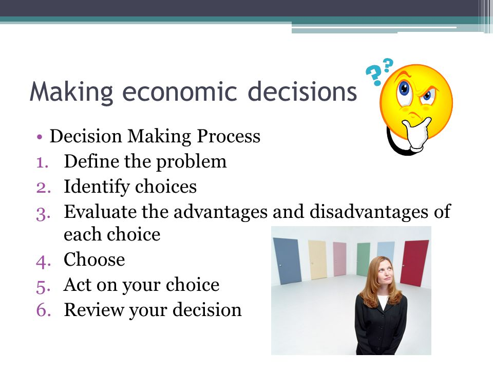 economic decision making Publishers of foundations and trends, making research accessible.