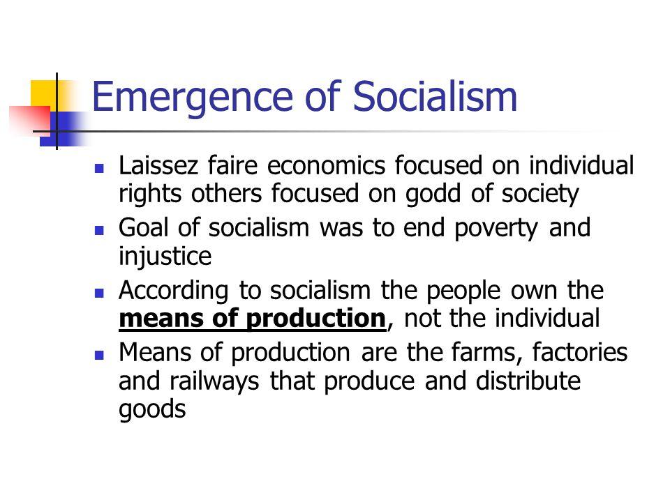 Emergence of Socialism