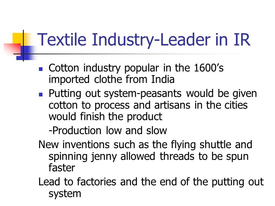 Textile Industry-Leader in IR
