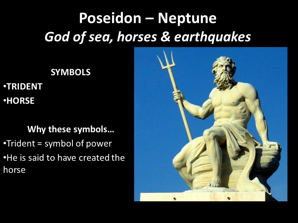 Poseidon – Neptune God of sea, horses & earthquakes