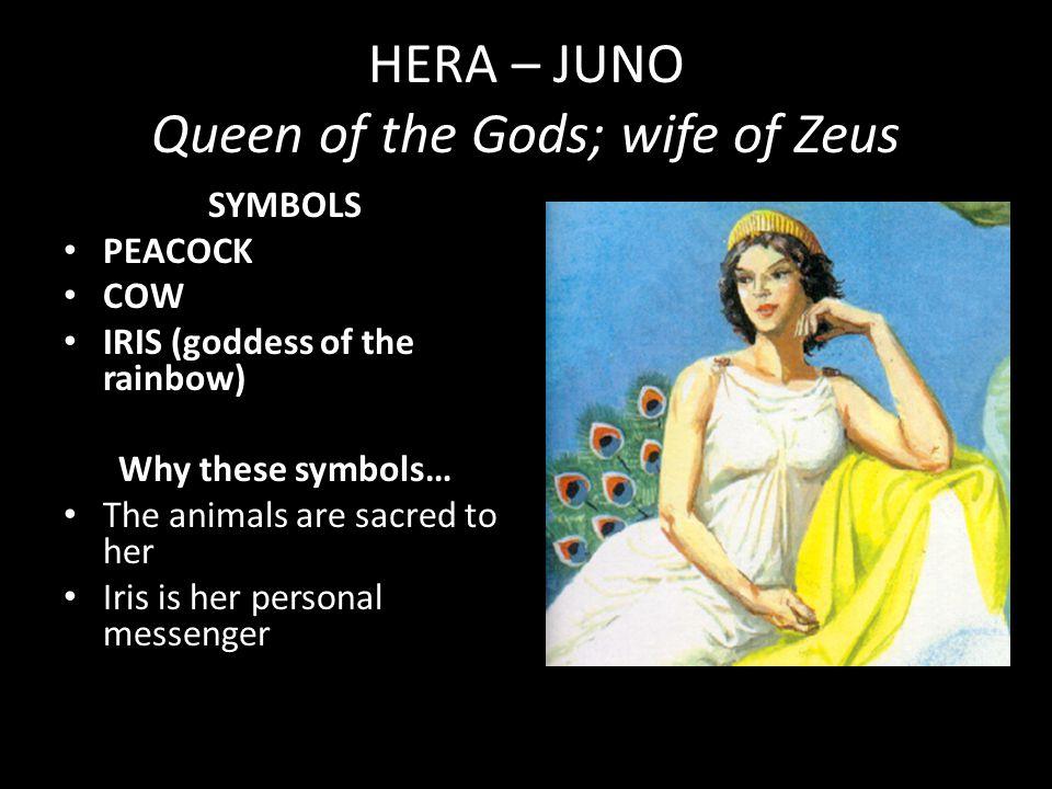 HERA – JUNO Queen of the Gods; wife of Zeus