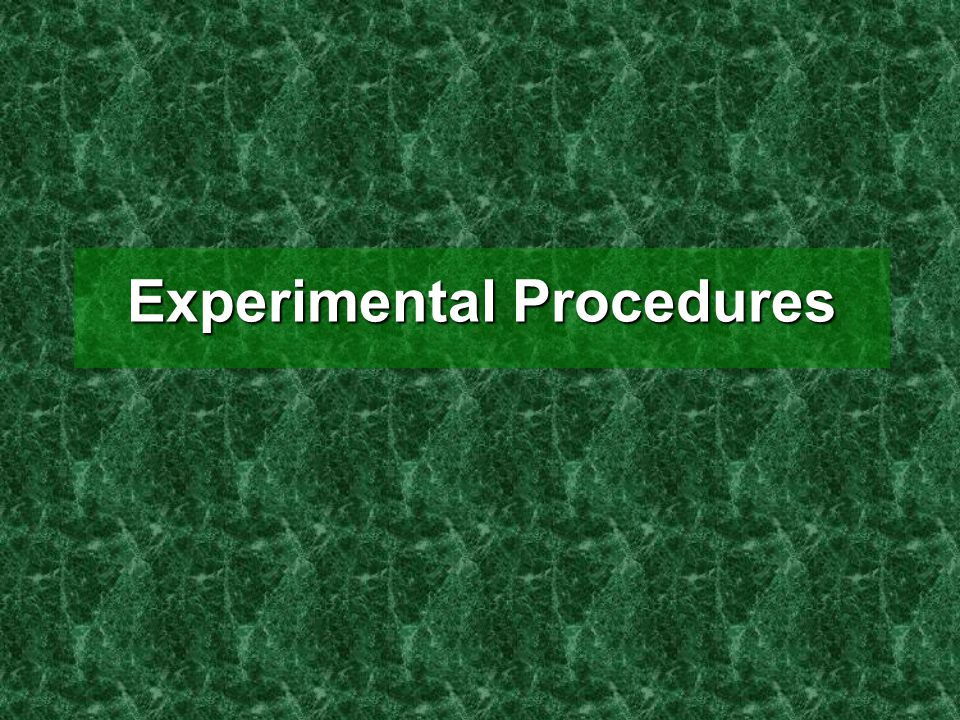 Experimental Procedures