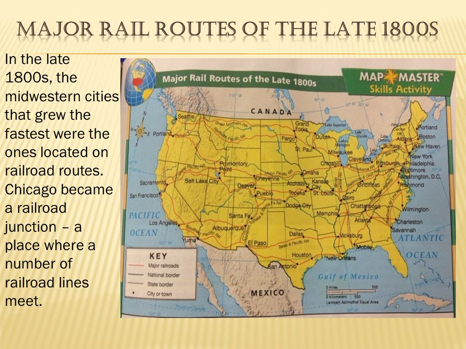 Major Rail Routes of the Late 1800s