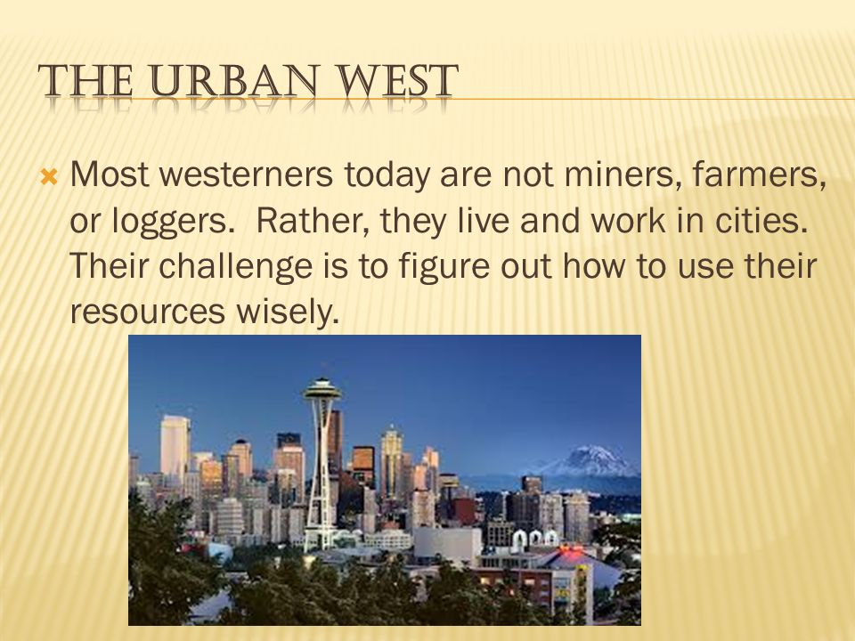 The Urban West