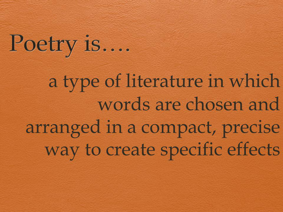 Poetry is….