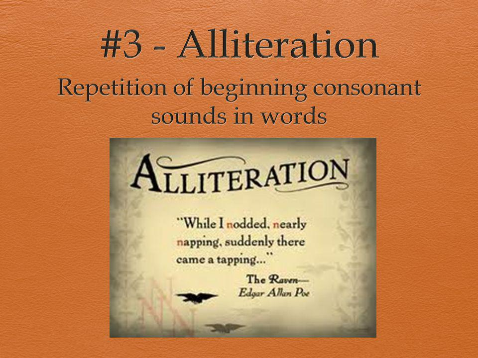 Repetition of beginning consonant sounds in words