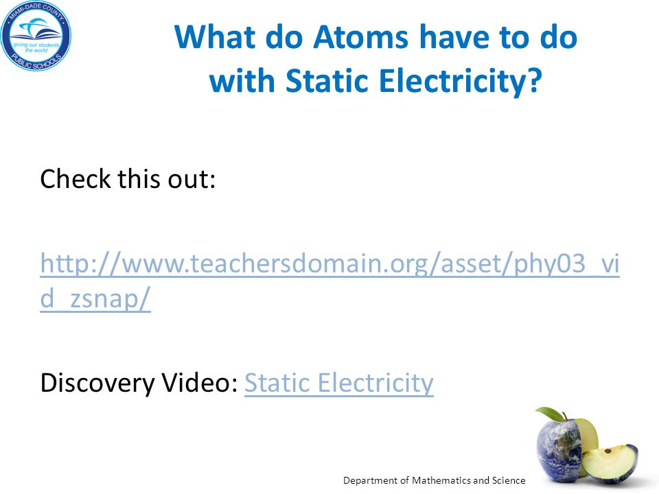 What do Atoms have to do with Static Electricity