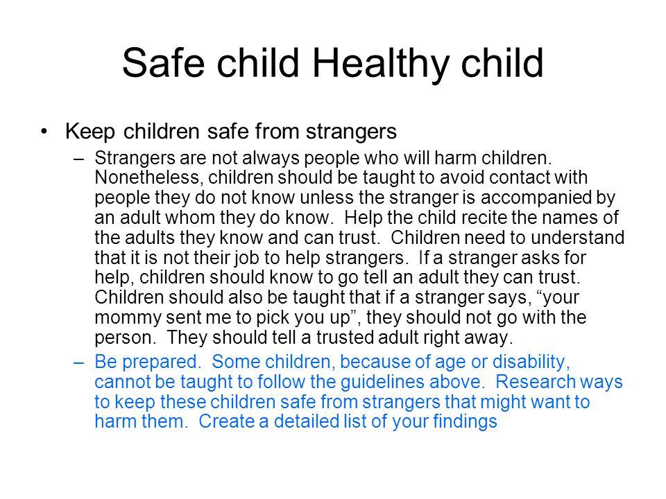 Safe child Healthy child