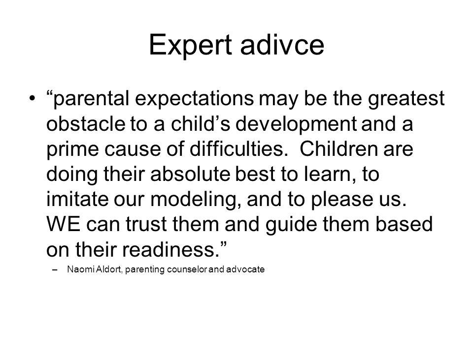 Expert adivce