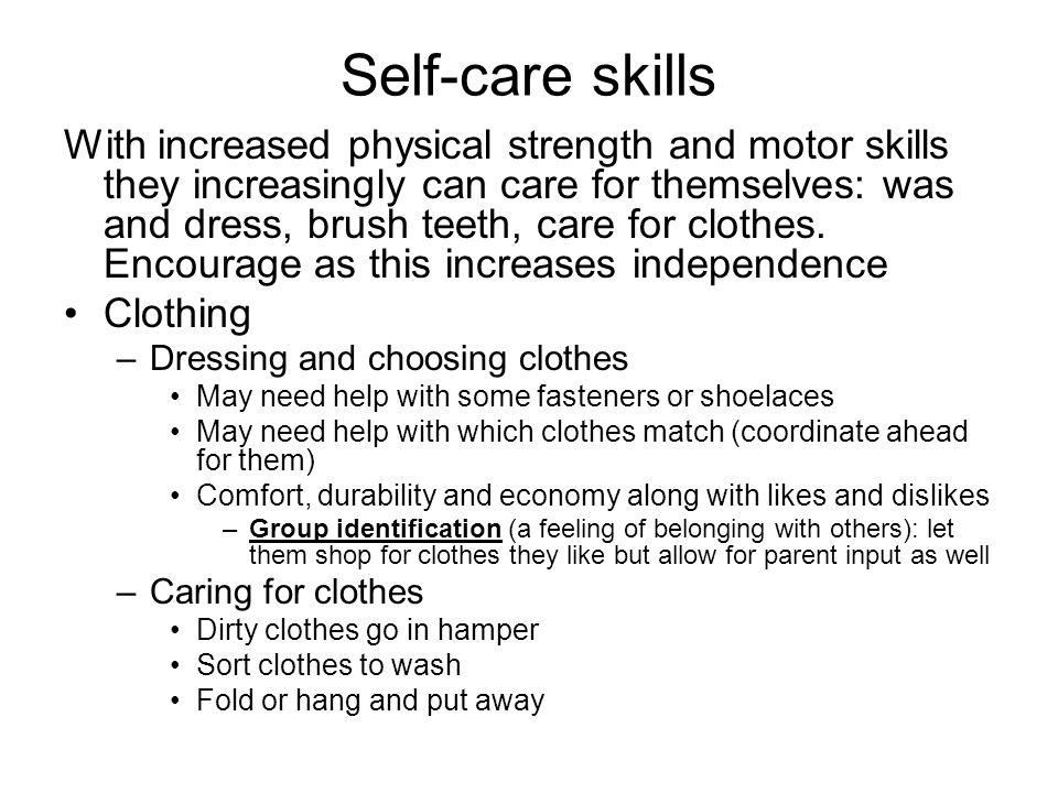 Self-care skills