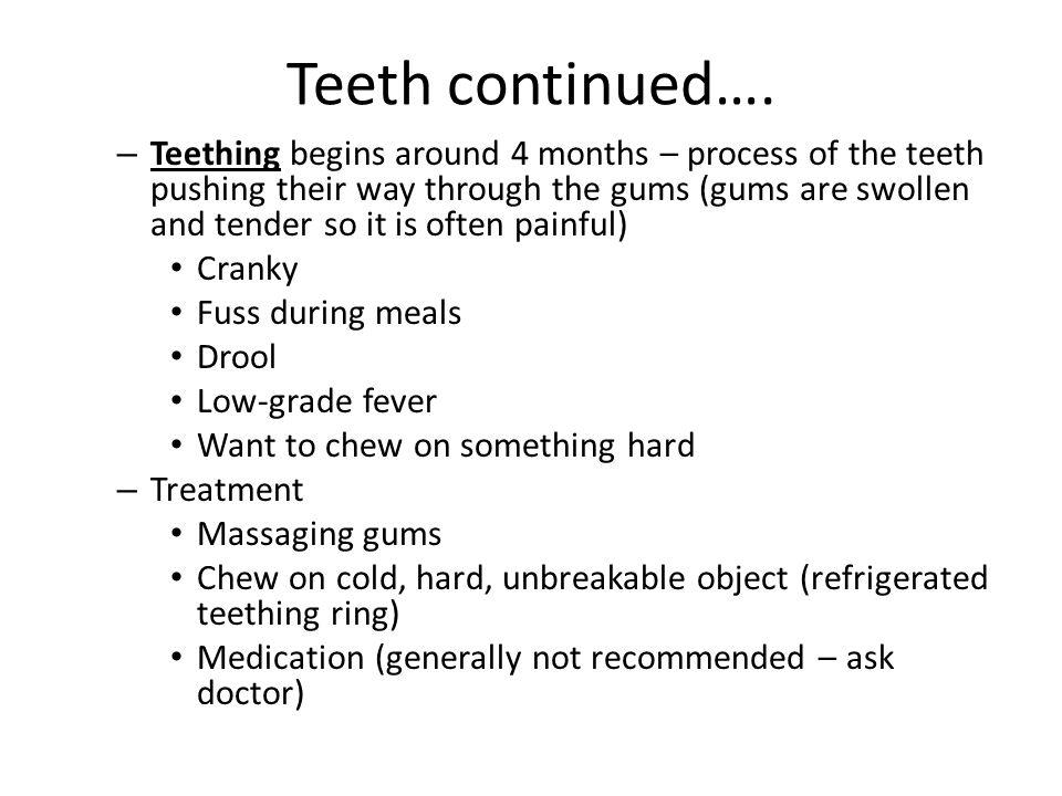 Teeth continued….