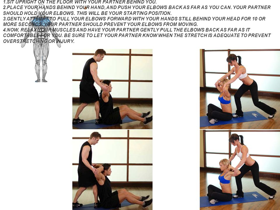 Behind Head Chest Stretch Guide