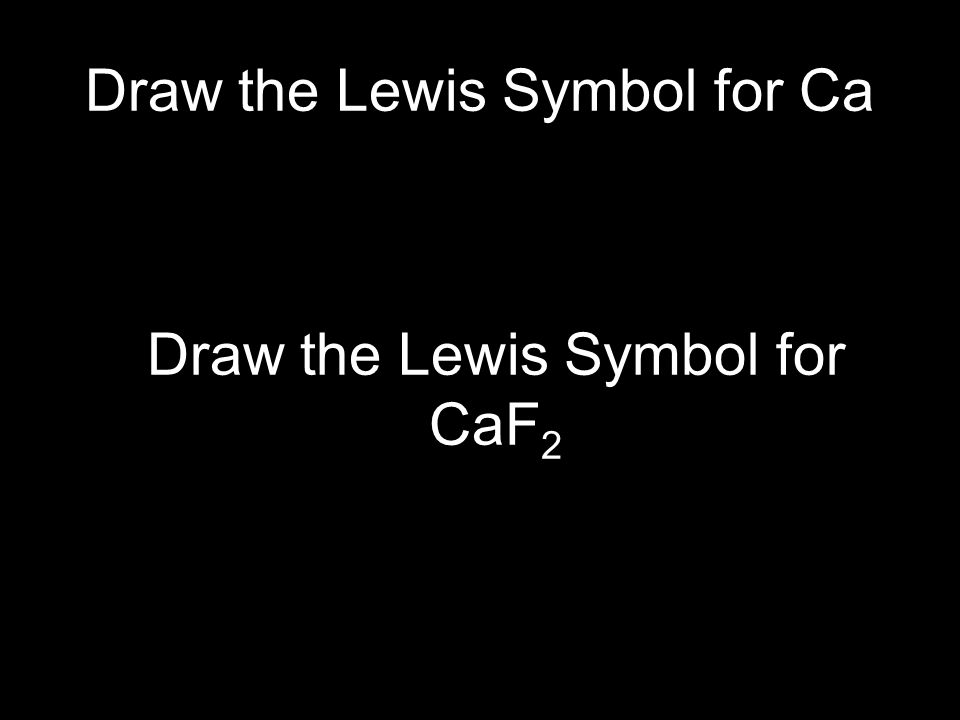 Draw the Lewis Symbol for Ca