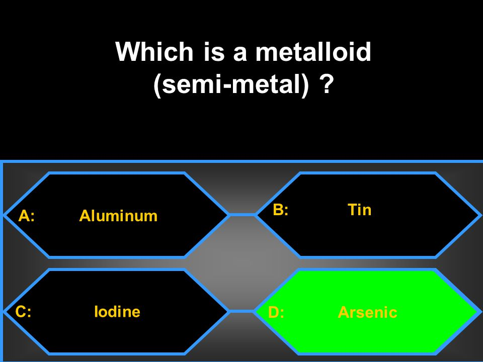 Which is a metalloid (semi-metal)