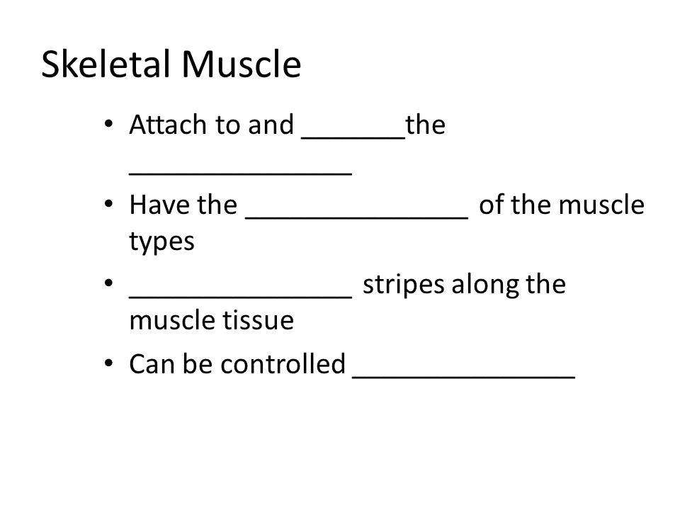 Skeletal Muscle Attach to and _______the _______________