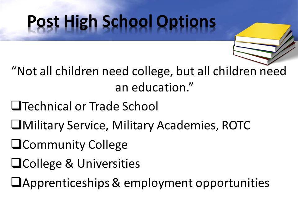 Different trade school options