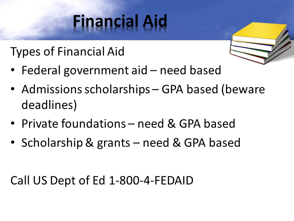Financial Aid Types of Financial Aid