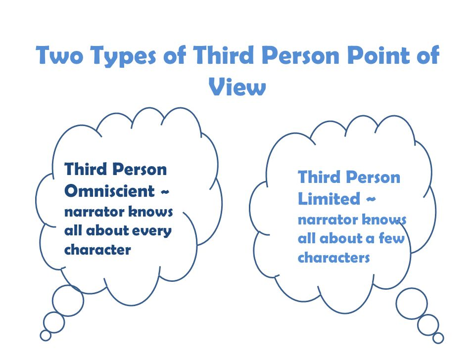 Two Types of Third Person Point of View