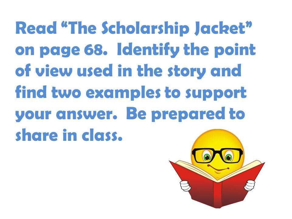 Read The Scholarship Jacket on page 68