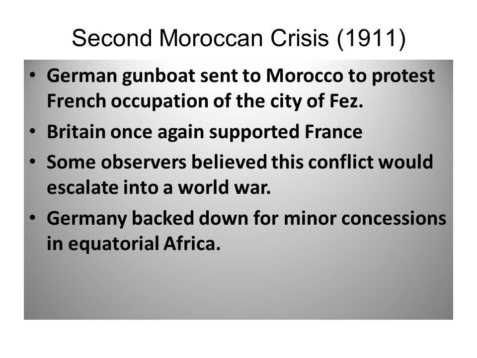 Second Moroccan Crisis (1911)