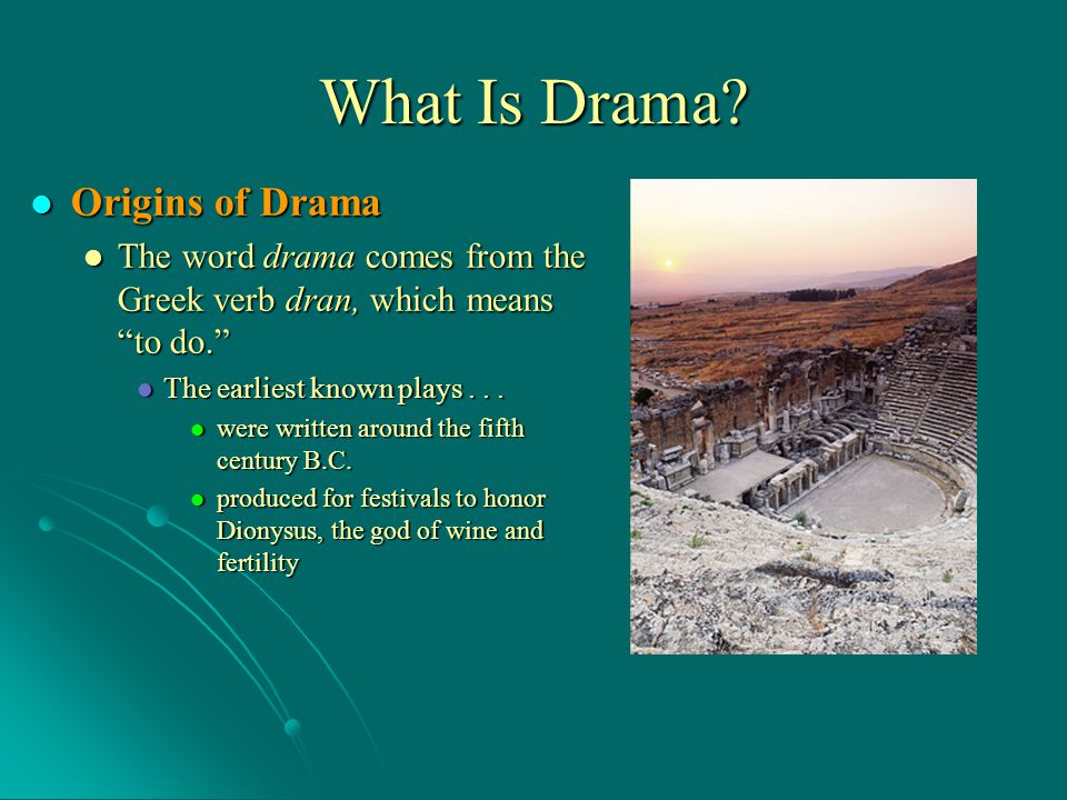 What Is Drama Origins of Drama
