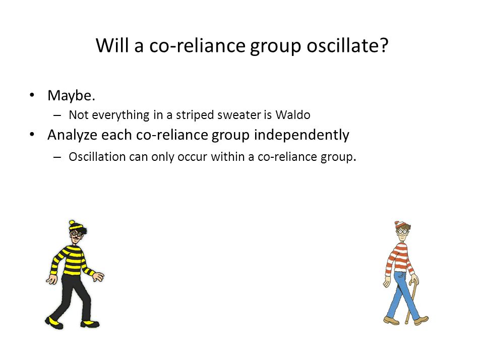 Will a co-reliance group oscillate