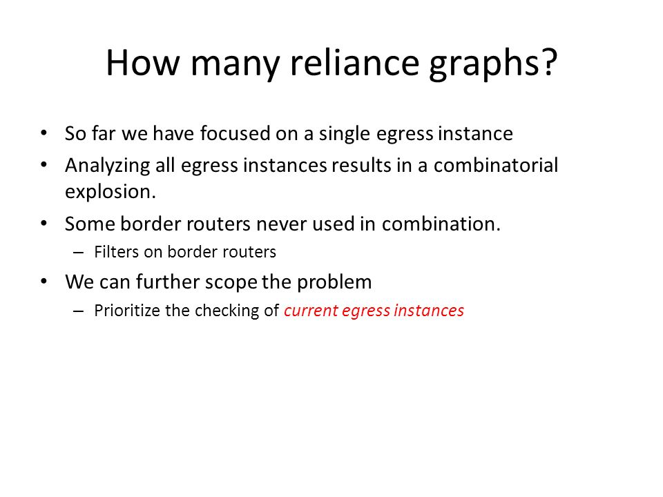 How many reliance graphs
