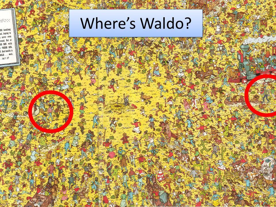 Where's Waldo Longer talk – spend logner on examples More background
