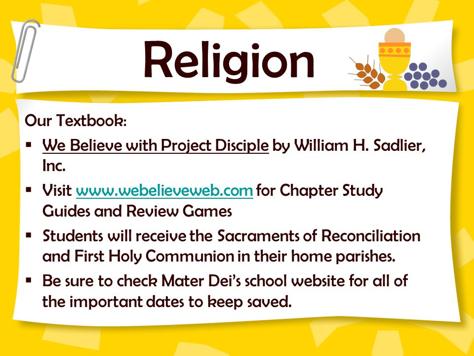 Religion Our Textbook: