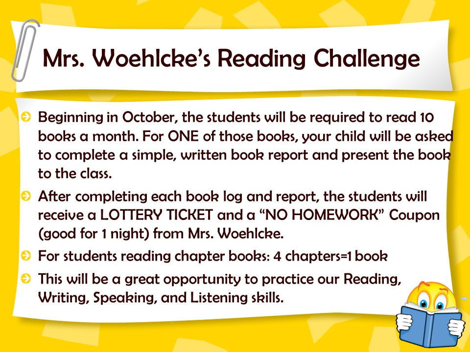 Mrs. Woehlcke's Reading Challenge