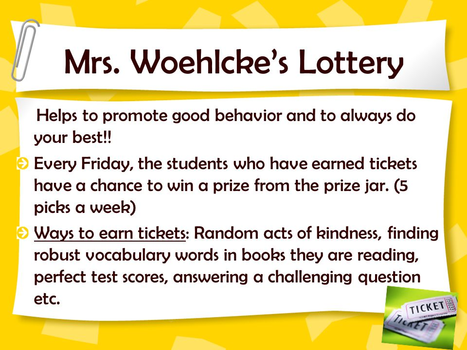 Mrs. Woehlcke's Lottery