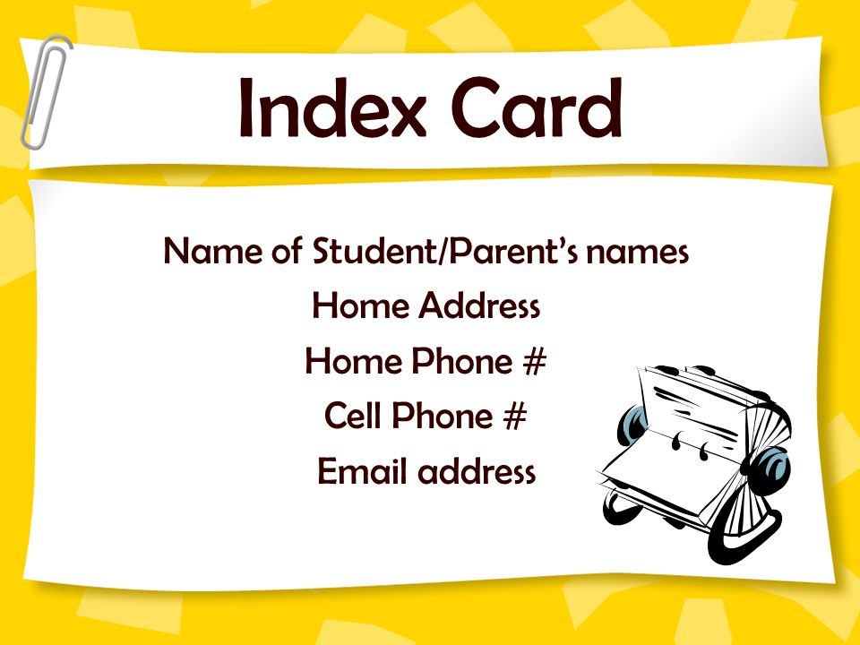 Name of Student/Parent's names