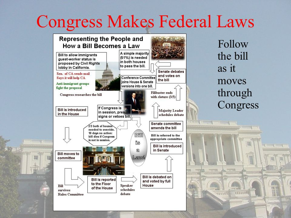 Congress Makes Federal Laws