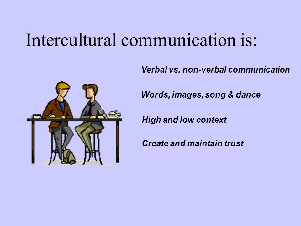 Intercultural communication is: