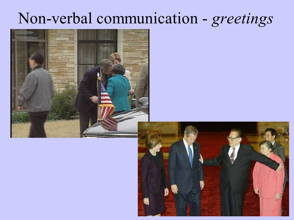 Non-verbal communication - greetings