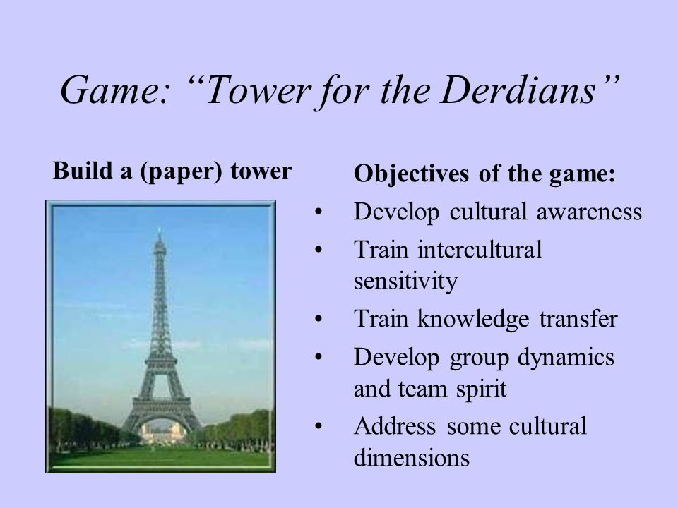 Game: Tower for the Derdians