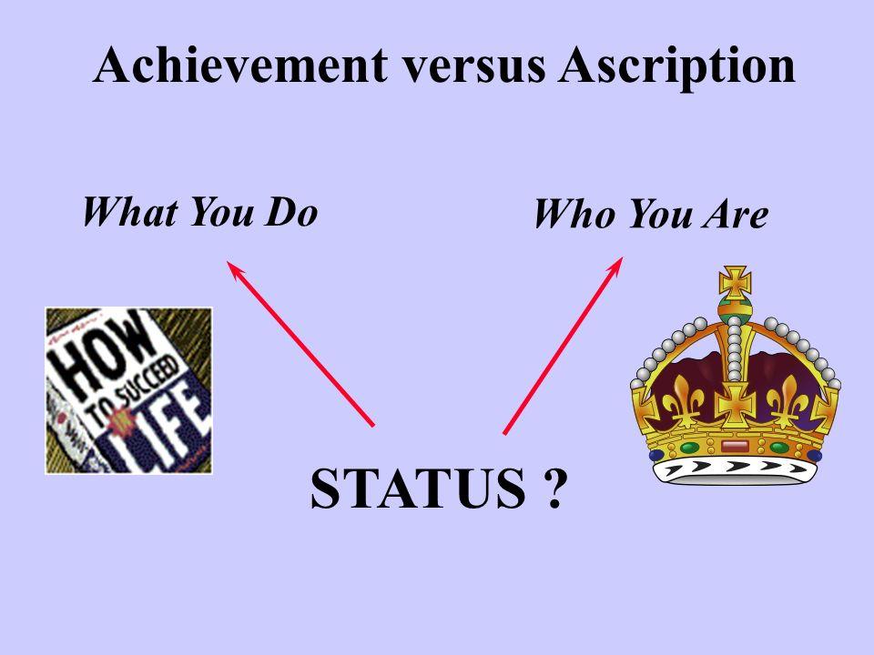 Achievement versus Ascription