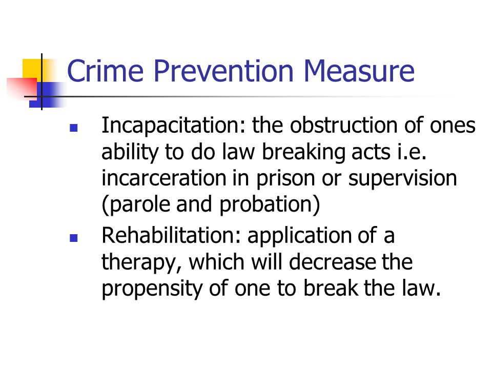 crime prevention and the justice system For instance, united states justice system has the three component of crime prevention the first component of the crime prevention is the law enforcement agencies, geared with the responsibilities of gathering evidence and capturing the suspected criminals.