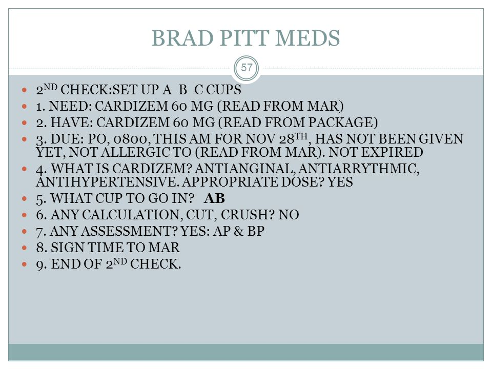 BRAD PITT MEDS 2ND CHECK:SET UP A B C CUPS