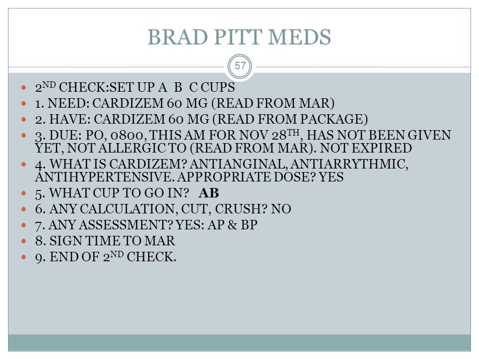 BRAD PITT MEDS 2ND CHECK:SET UP A B C CUPS