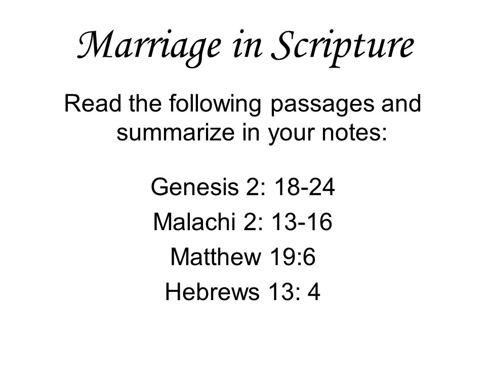 Read the following passages and summarize in your notes:
