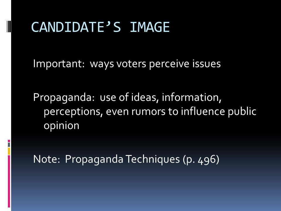 CANDIDATE'S IMAGE
