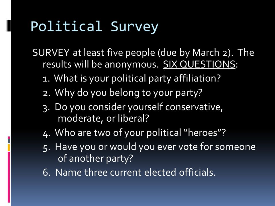 Political Survey