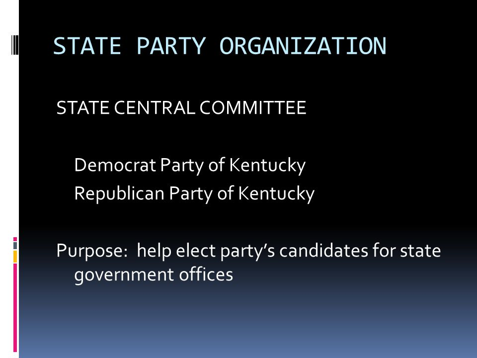STATE PARTY ORGANIZATION