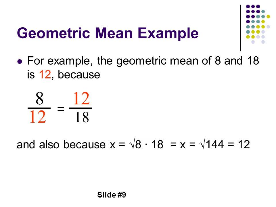 Geometric Mean Example